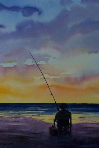 Enjoying Retirement - Watercolour 43.5 x 34.5cms