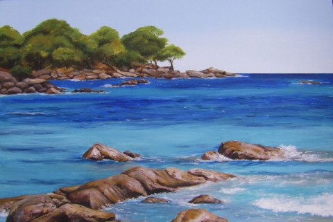 Summer Breeze - Bunker Bay, Acrylic 51 x76.5 cms